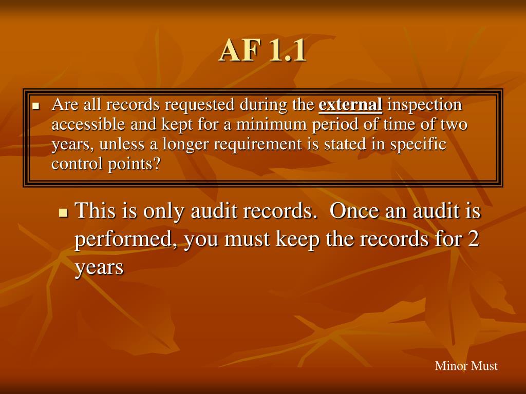 AF 1.1