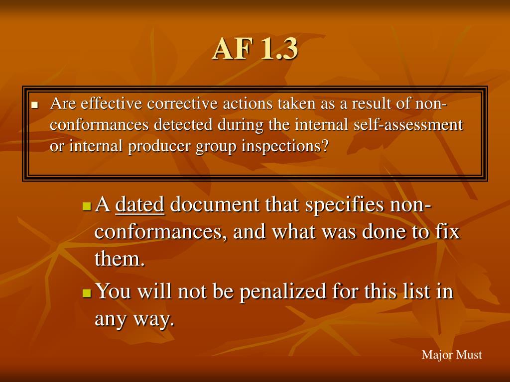 AF 1.3