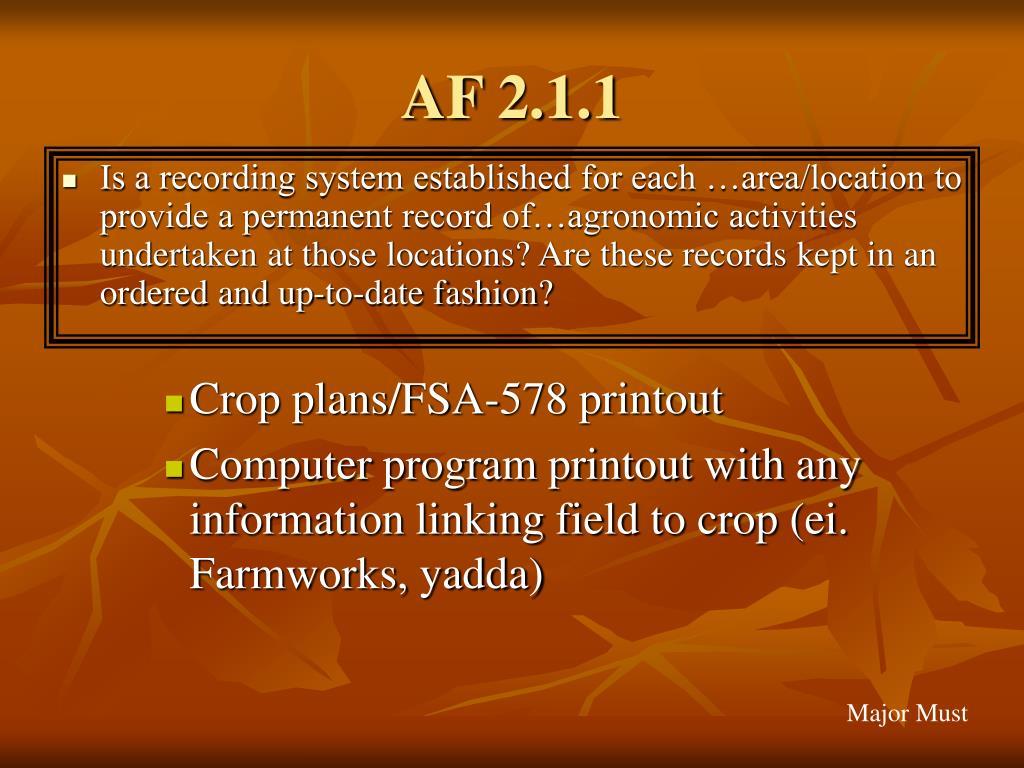 AF 2.1.1