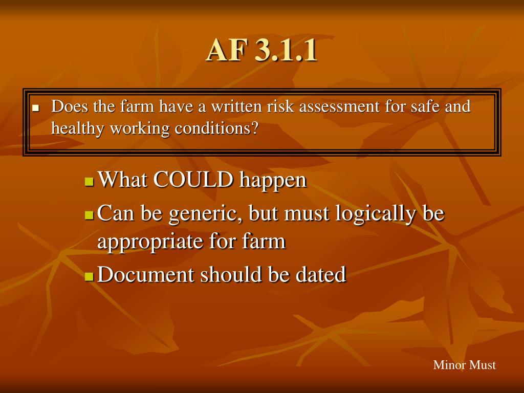 AF 3.1.1