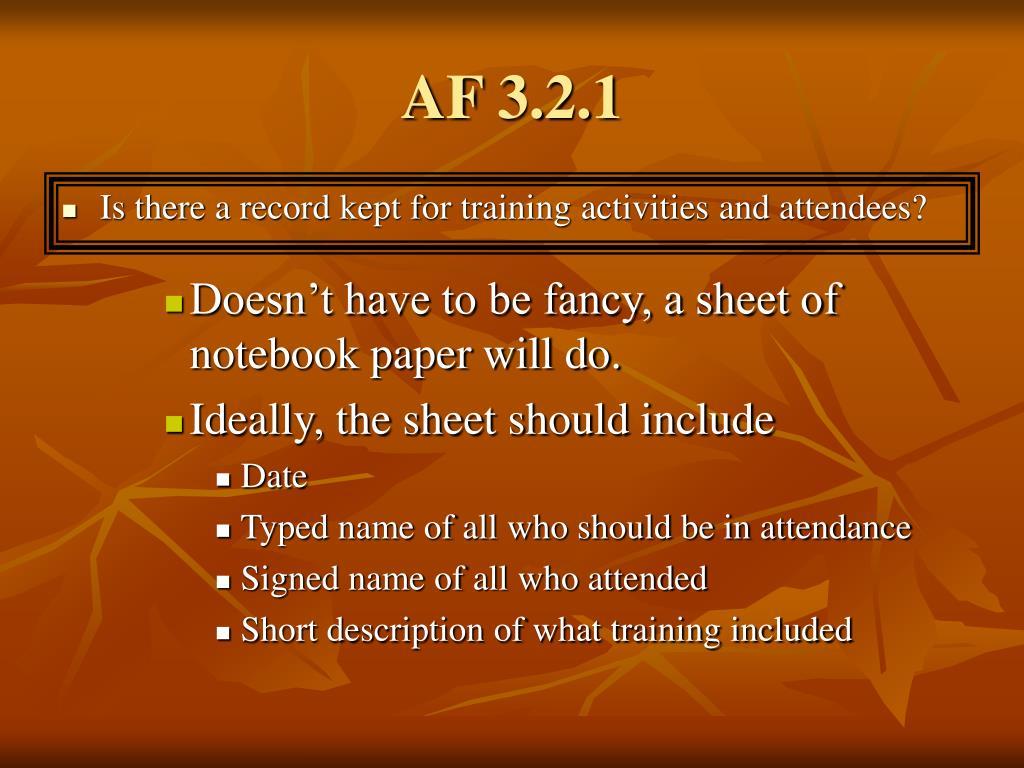 AF 3.2.1