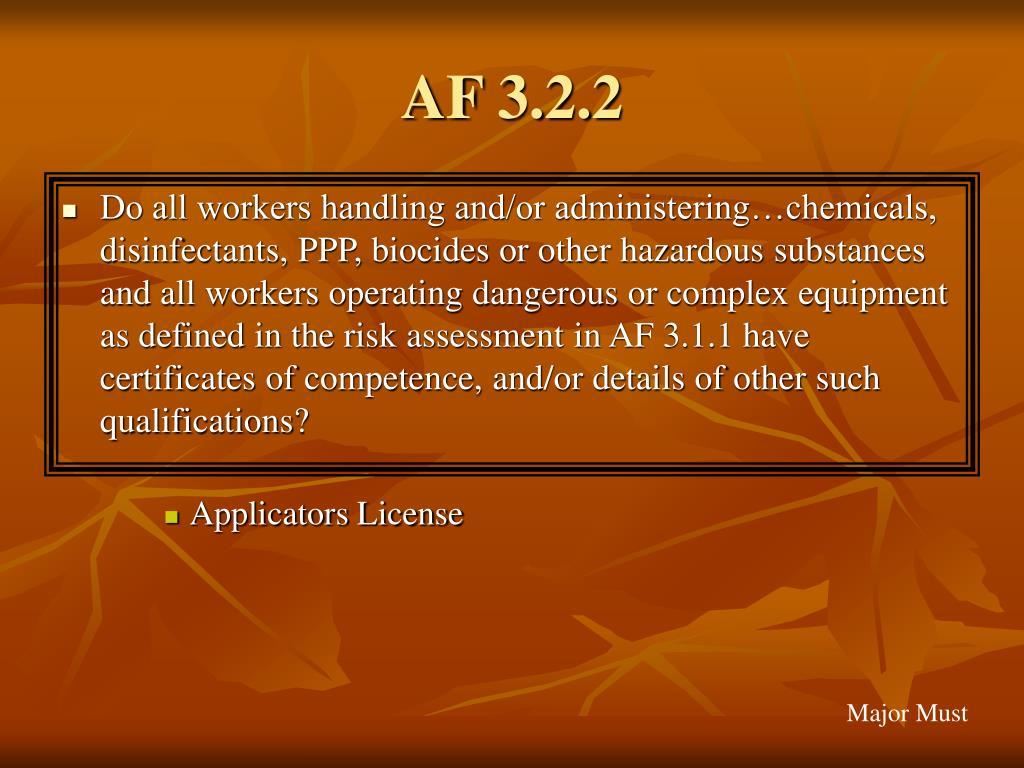 AF 3.2.2