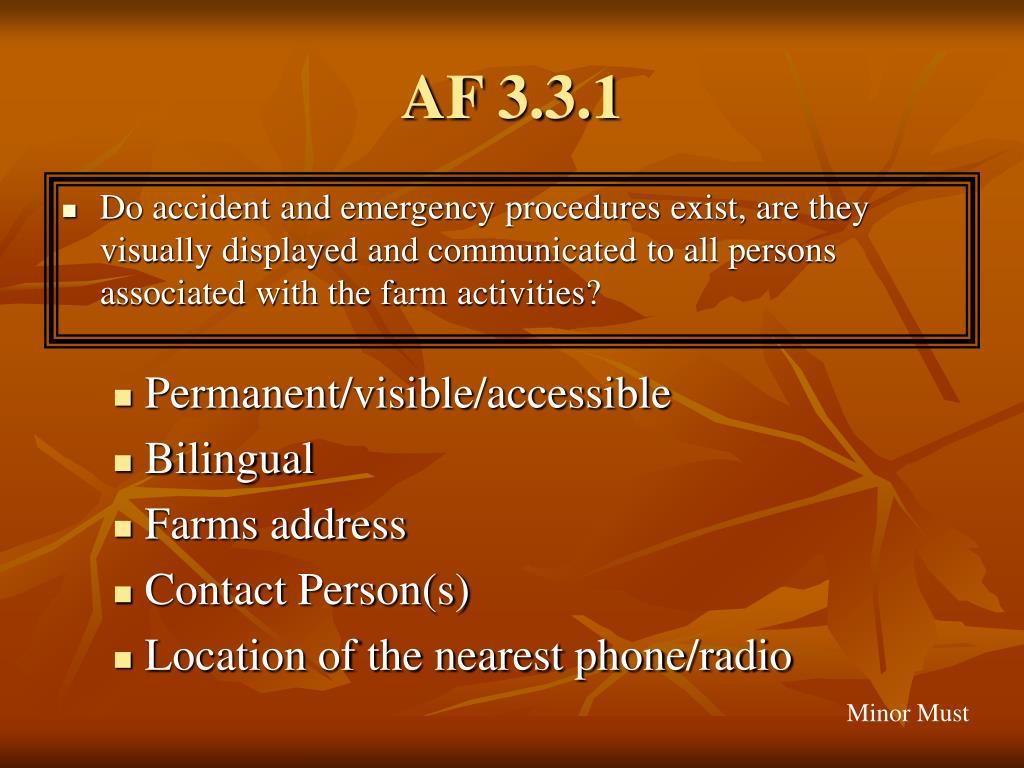 AF 3.3.1