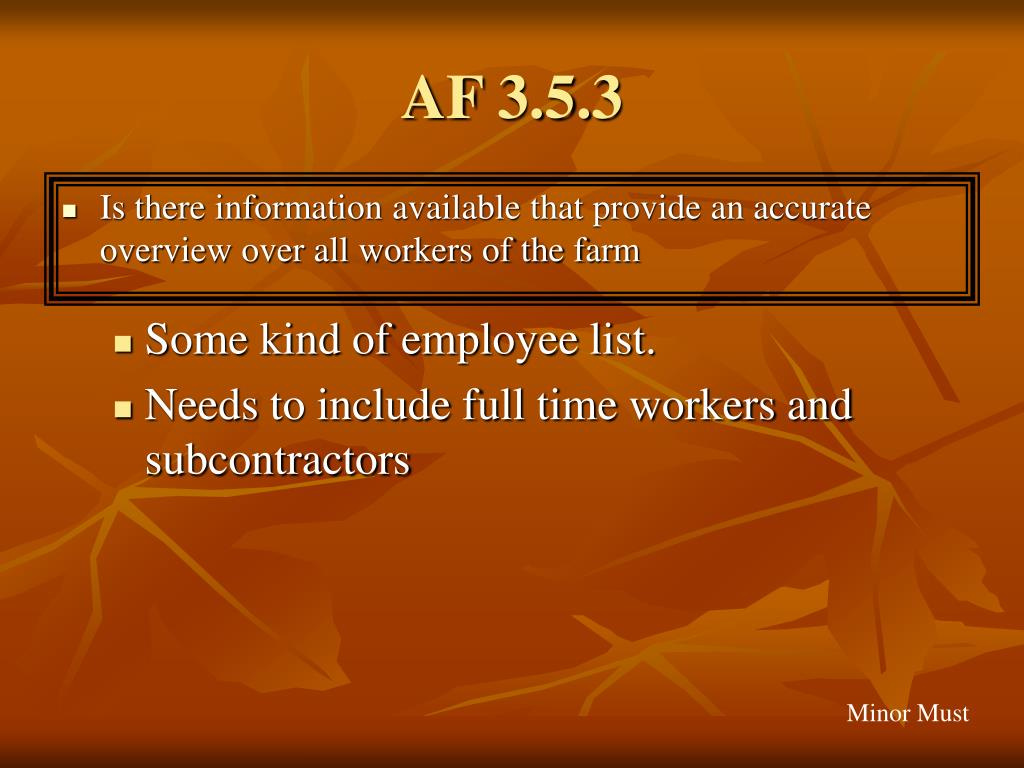 AF 3.5.3