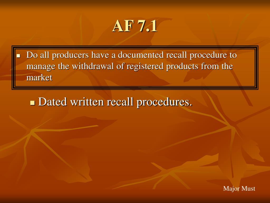 AF 7.1