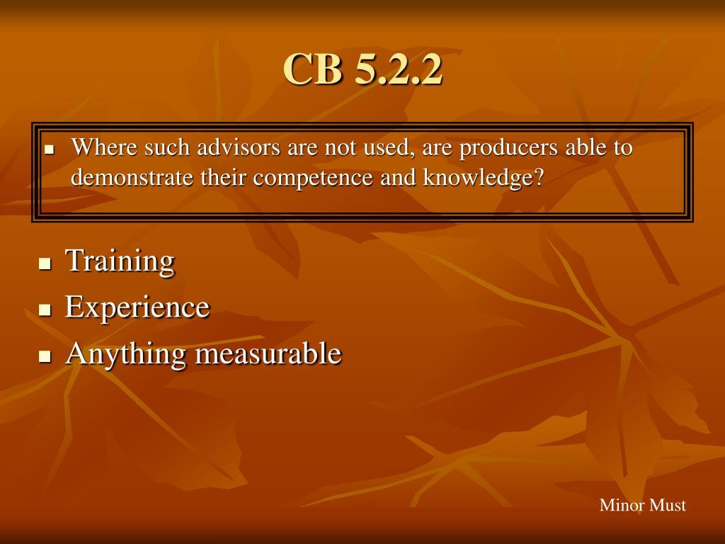 CB 5.2.2