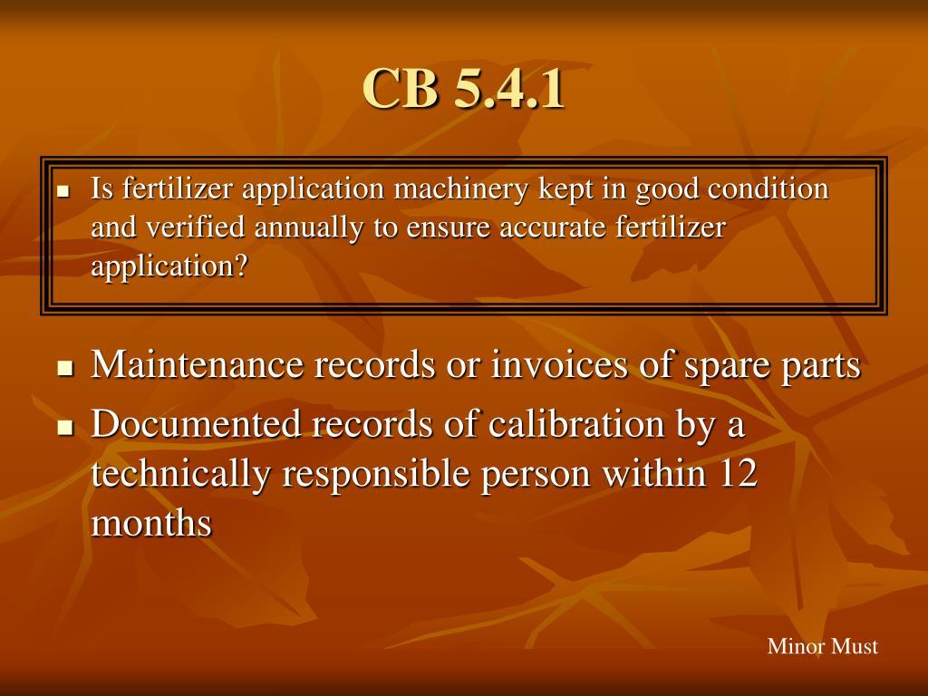 CB 5.4.1