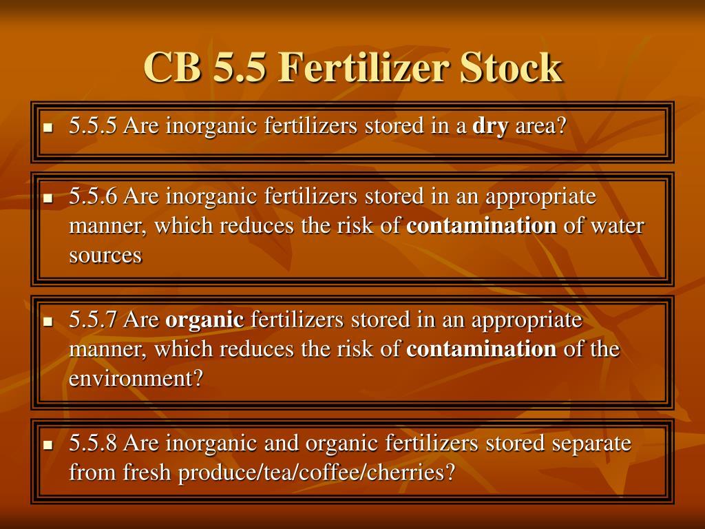 CB 5.5 Fertilizer Stock