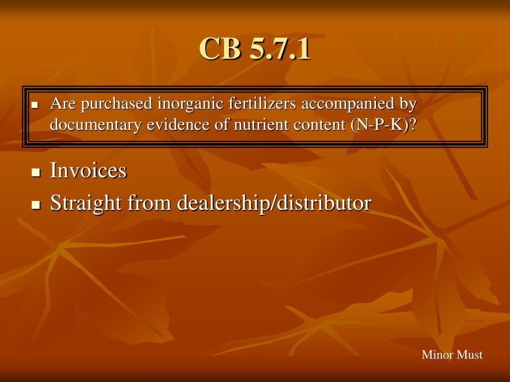 CB 5.7.1