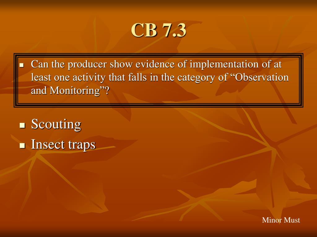 CB 7.3