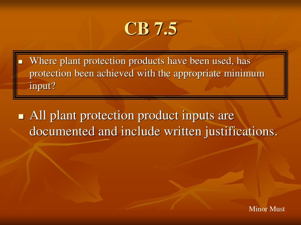 CB 7.5