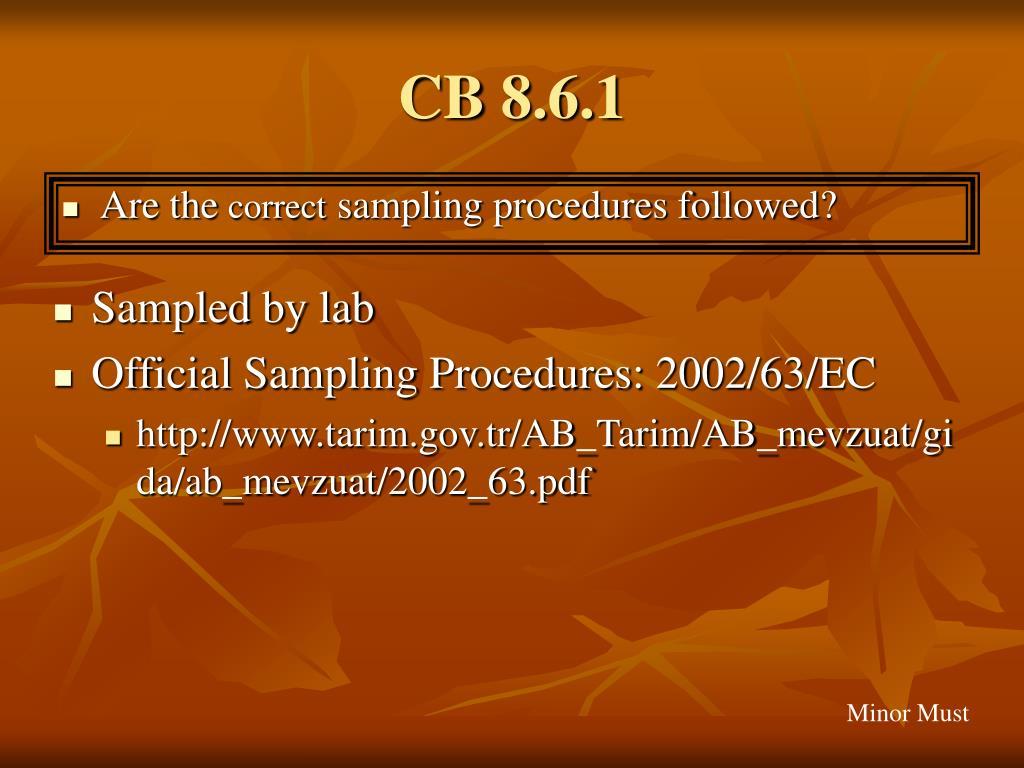 CB 8.6.1