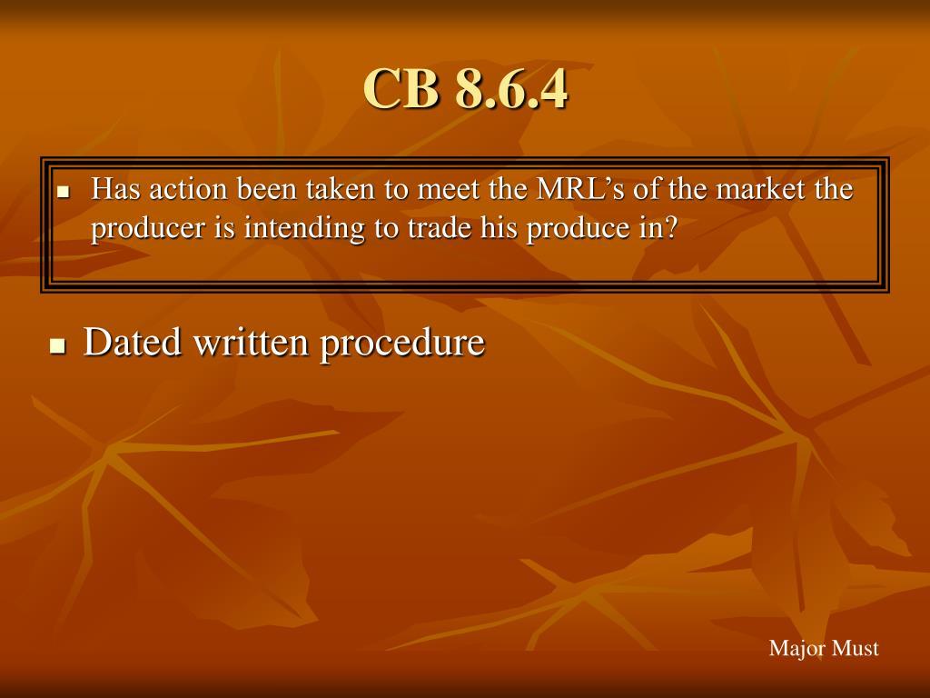 CB 8.6.4