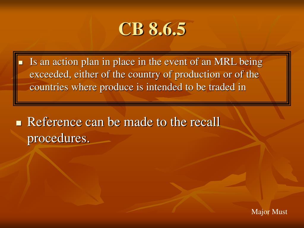 CB 8.6.5
