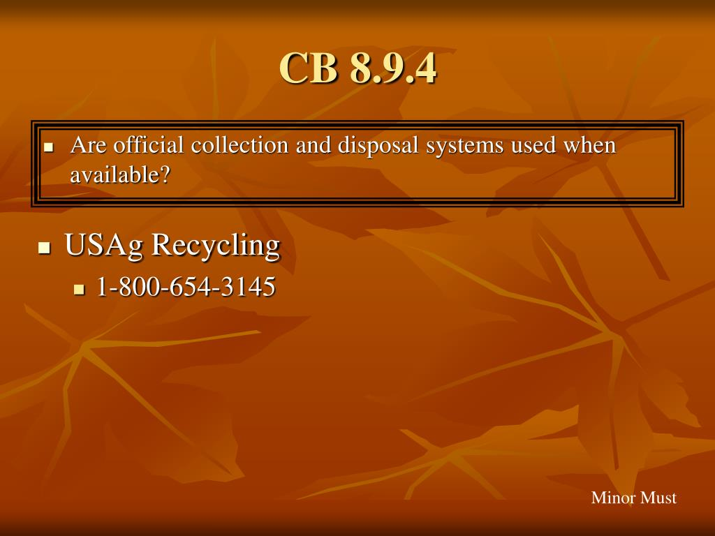 CB 8.9.4