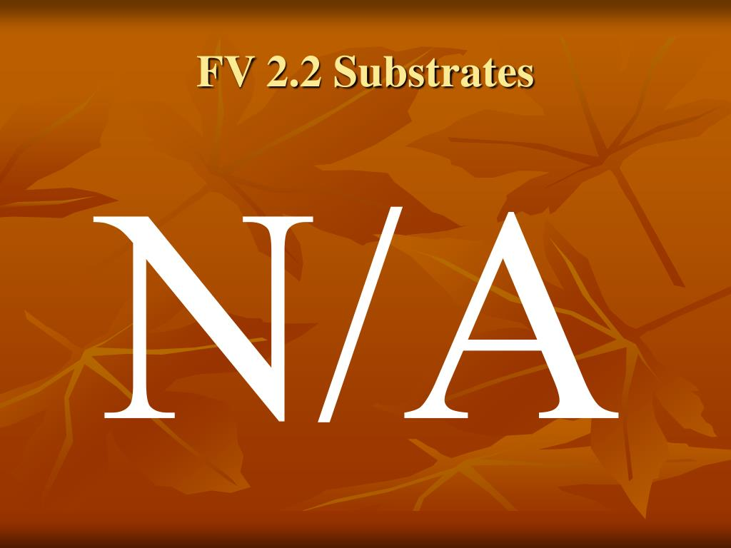 FV 2.2 Substrates