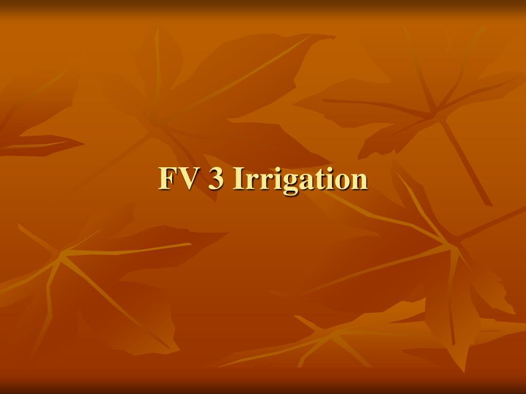 FV 3 Irrigation