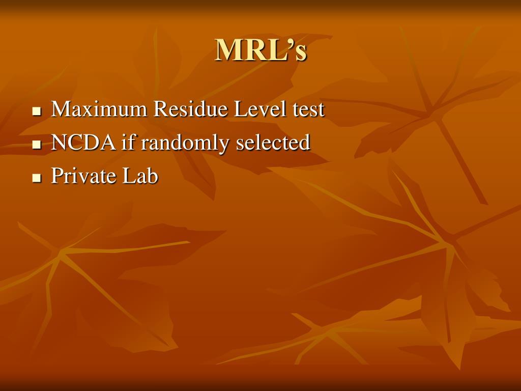 MRL's