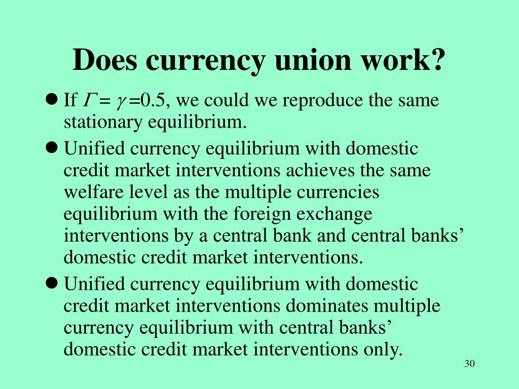 Does currency union work?