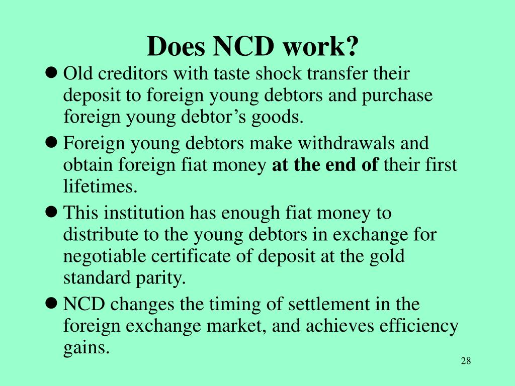 Does NCD work?