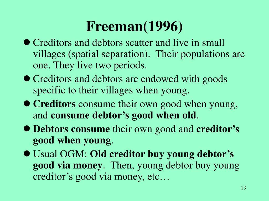 Freeman(1996)