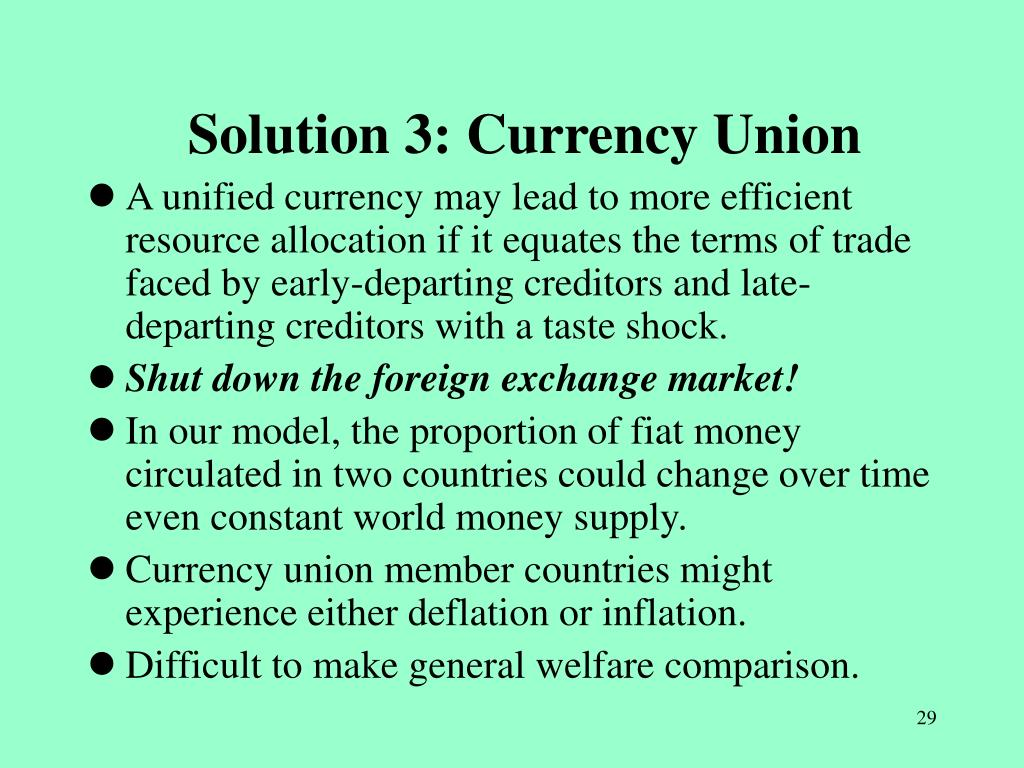 Solution 3: Currency Union