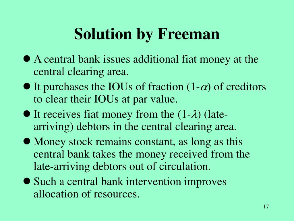 Solution by Freeman