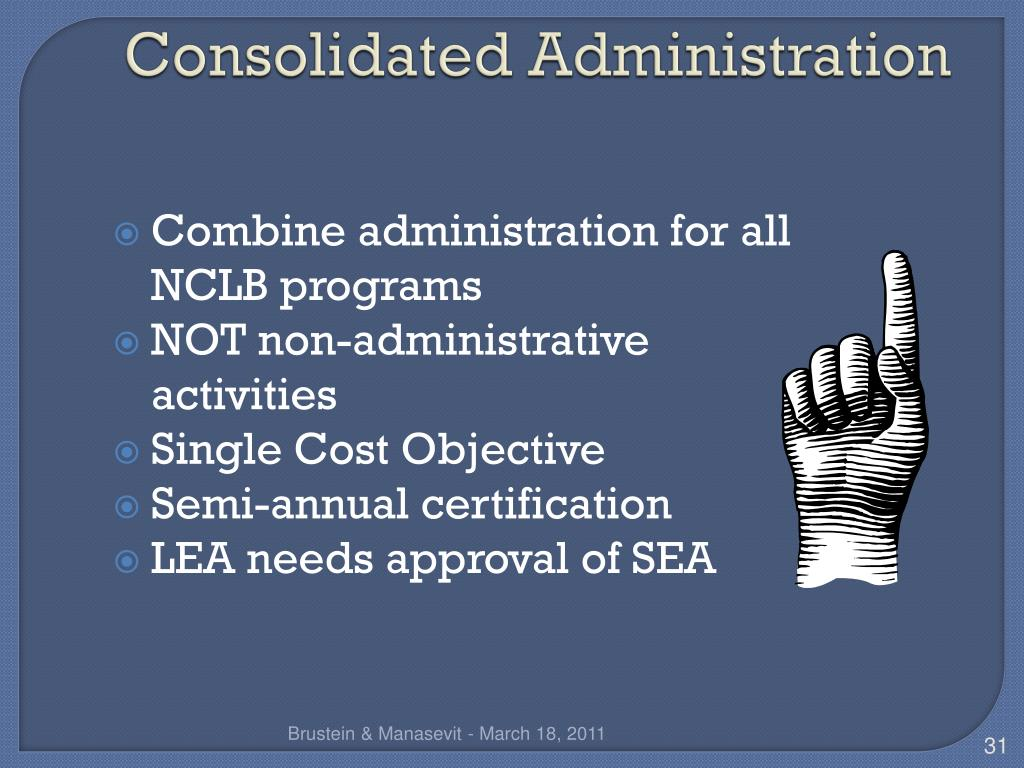 Consolidated Administration