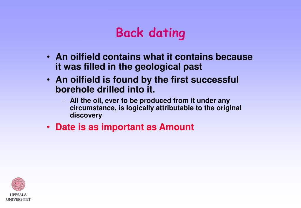 Back dating