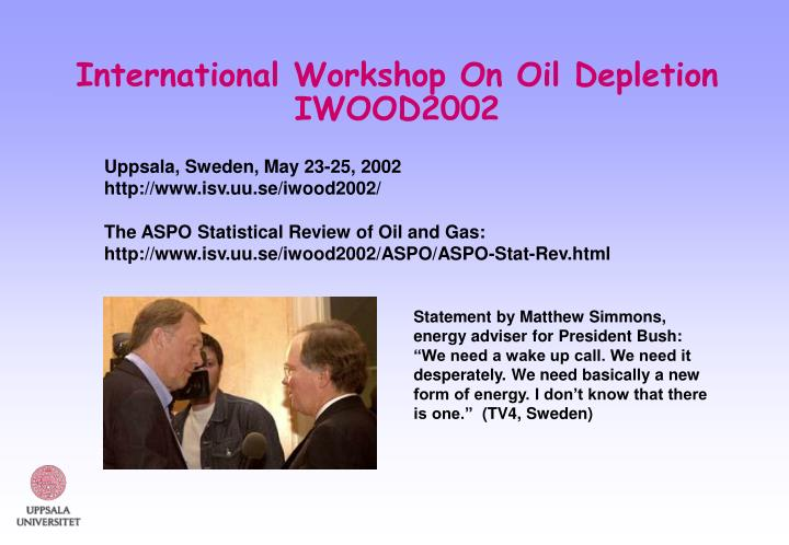 International workshop on oil depletion iwood2002