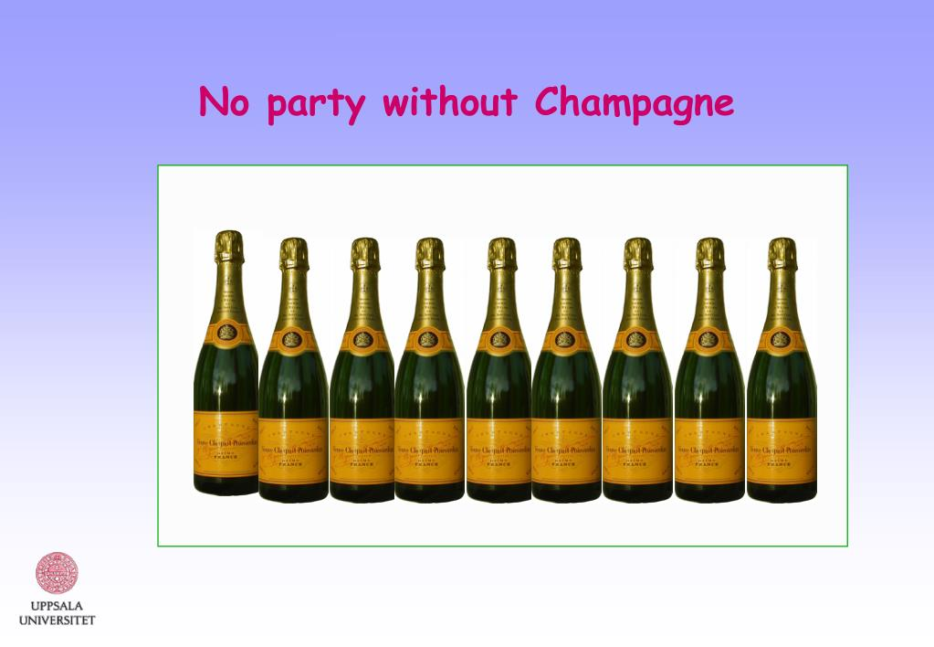 No party without Champagne