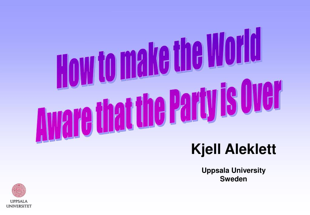 How to make the World