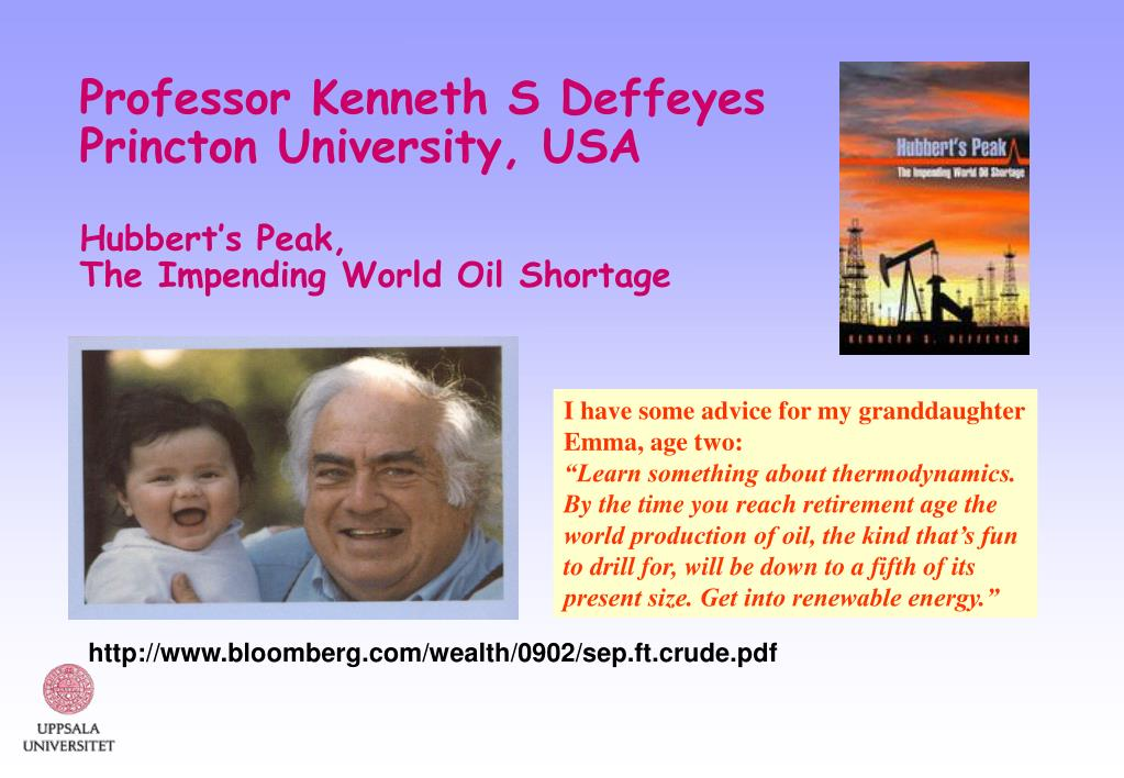 Professor Kenneth S Deffeyes