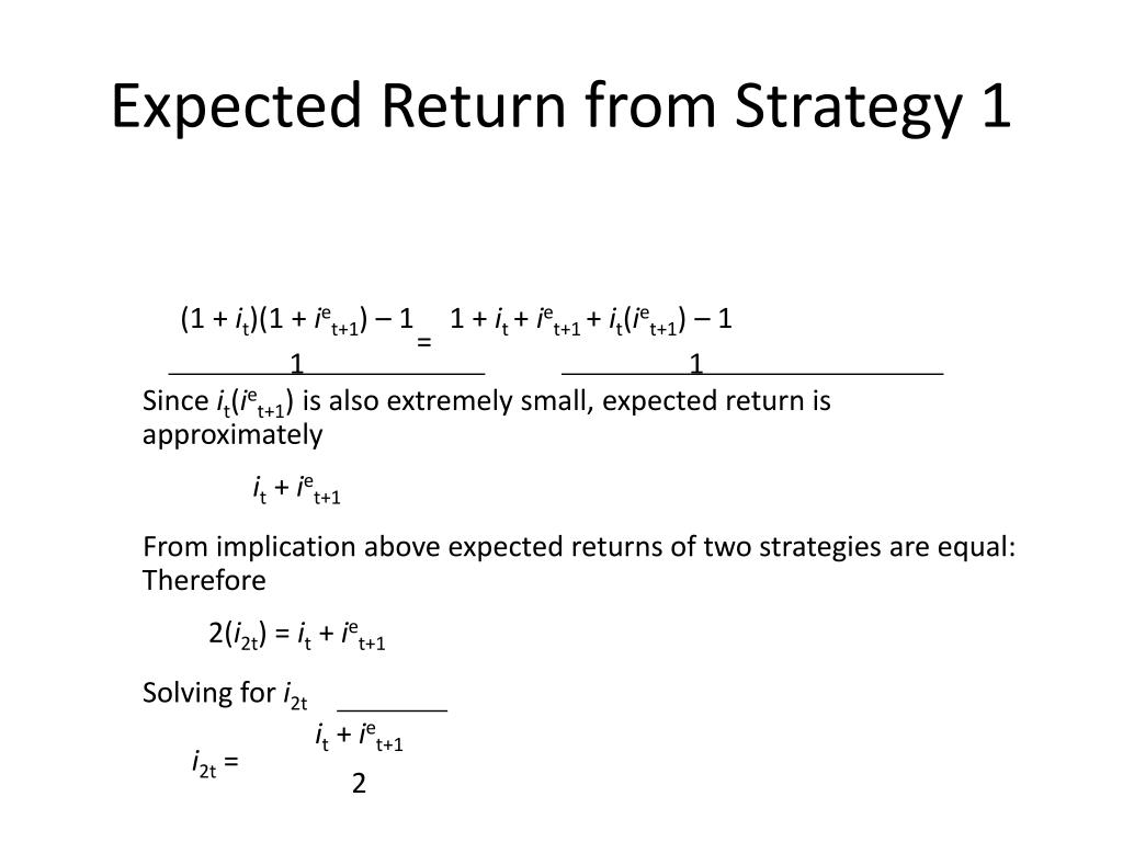 Expected Return from Strategy 1