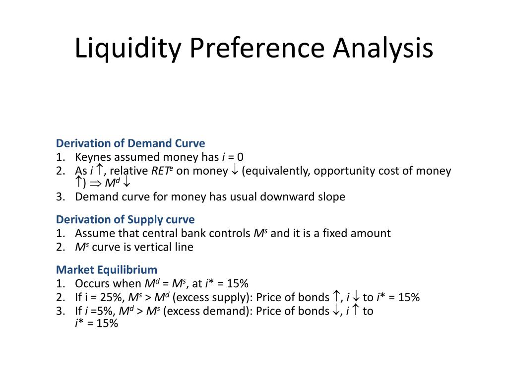 Liquidity Preference Analysis