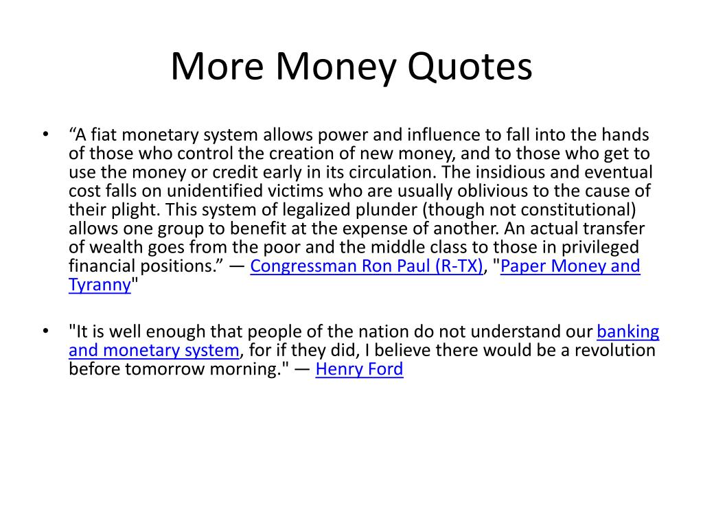 More Money Quotes