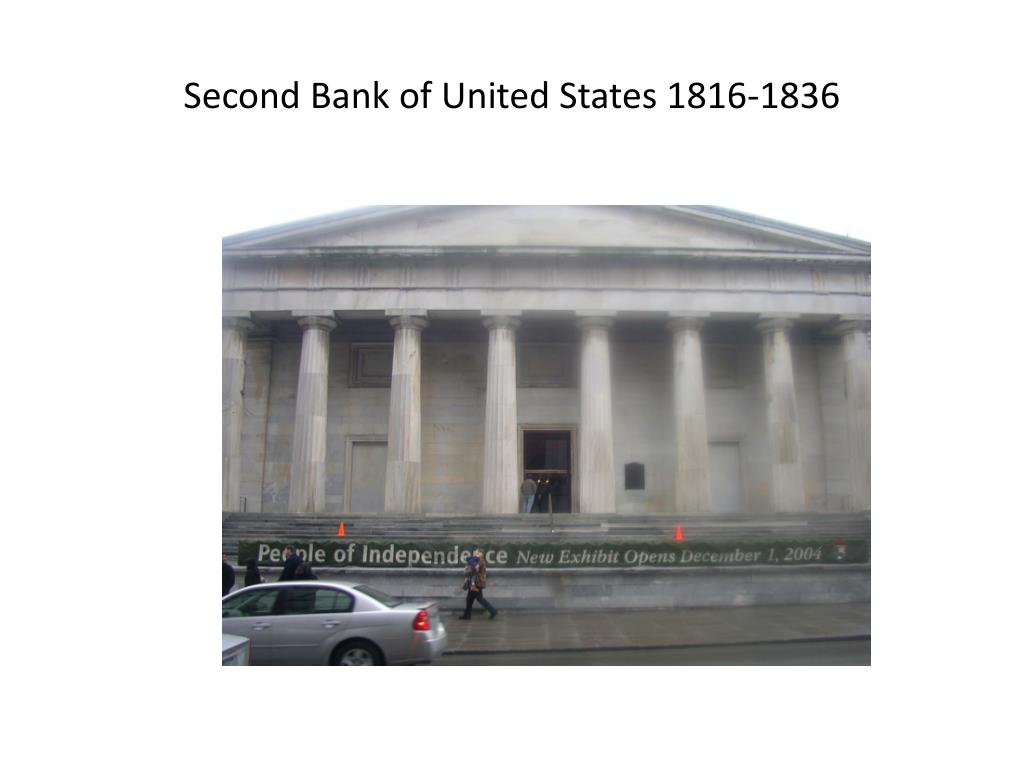 Second Bank of United States 1816-1836