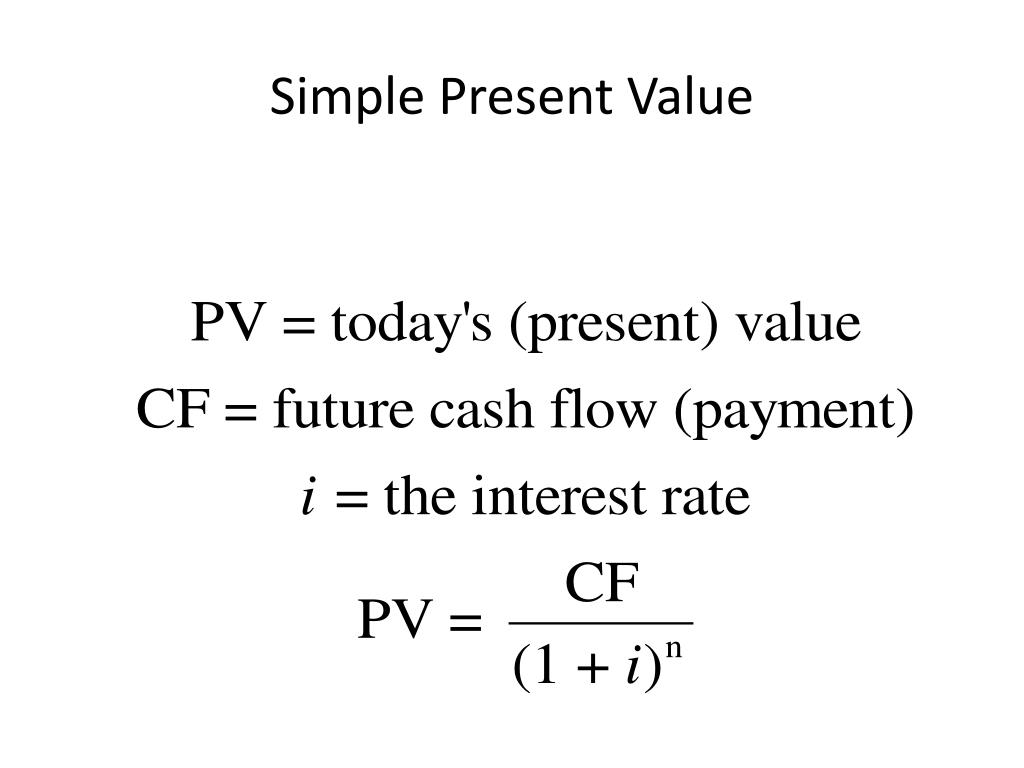 Simple Present Value