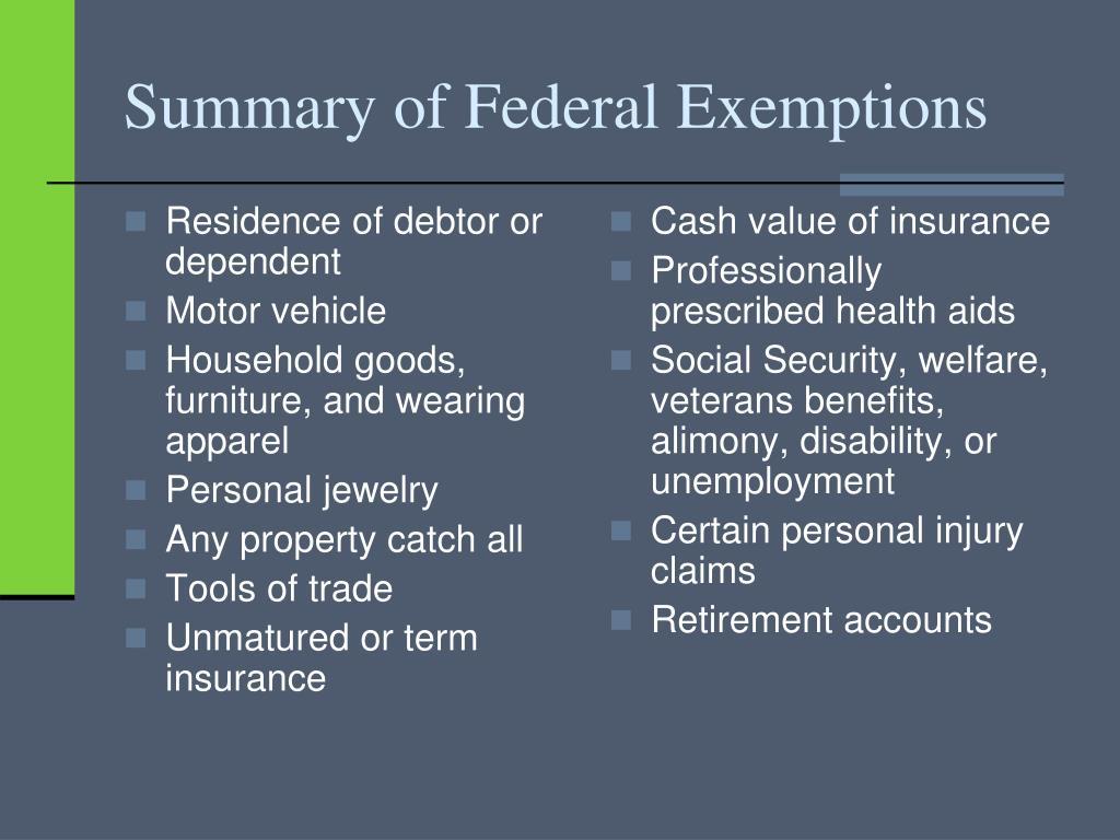 Residence of debtor or dependent