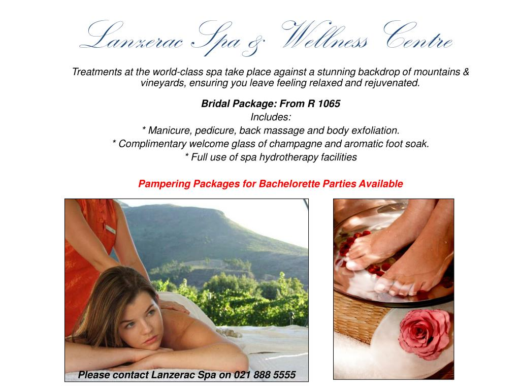 Lanzerac Spa & Wellness Centre