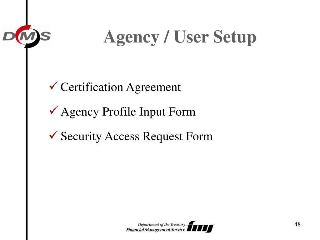 Agency / User Setup