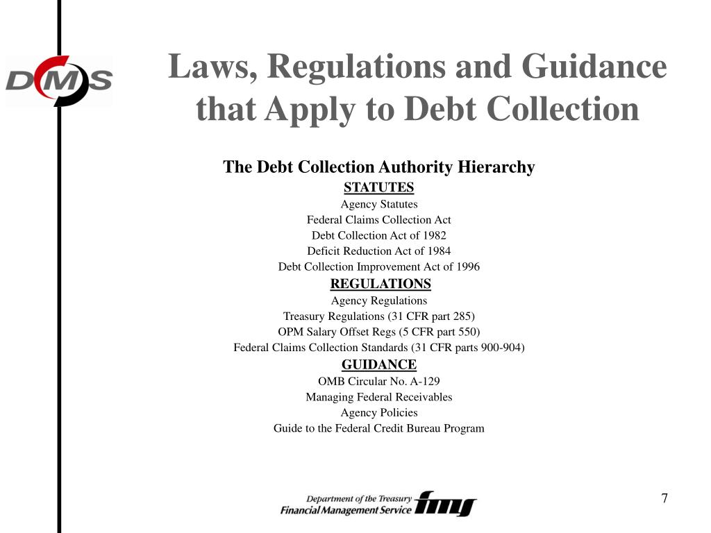 Laws, Regulations and Guidance that Apply to Debt Collection