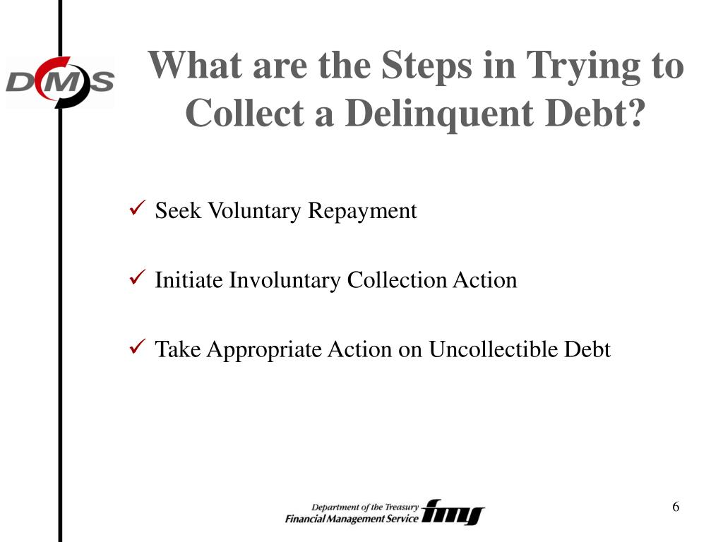 What are the Steps in Trying to Collect a Delinquent Debt?