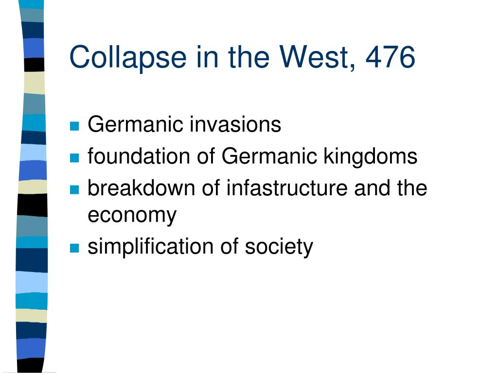 Collapse in the West, 476