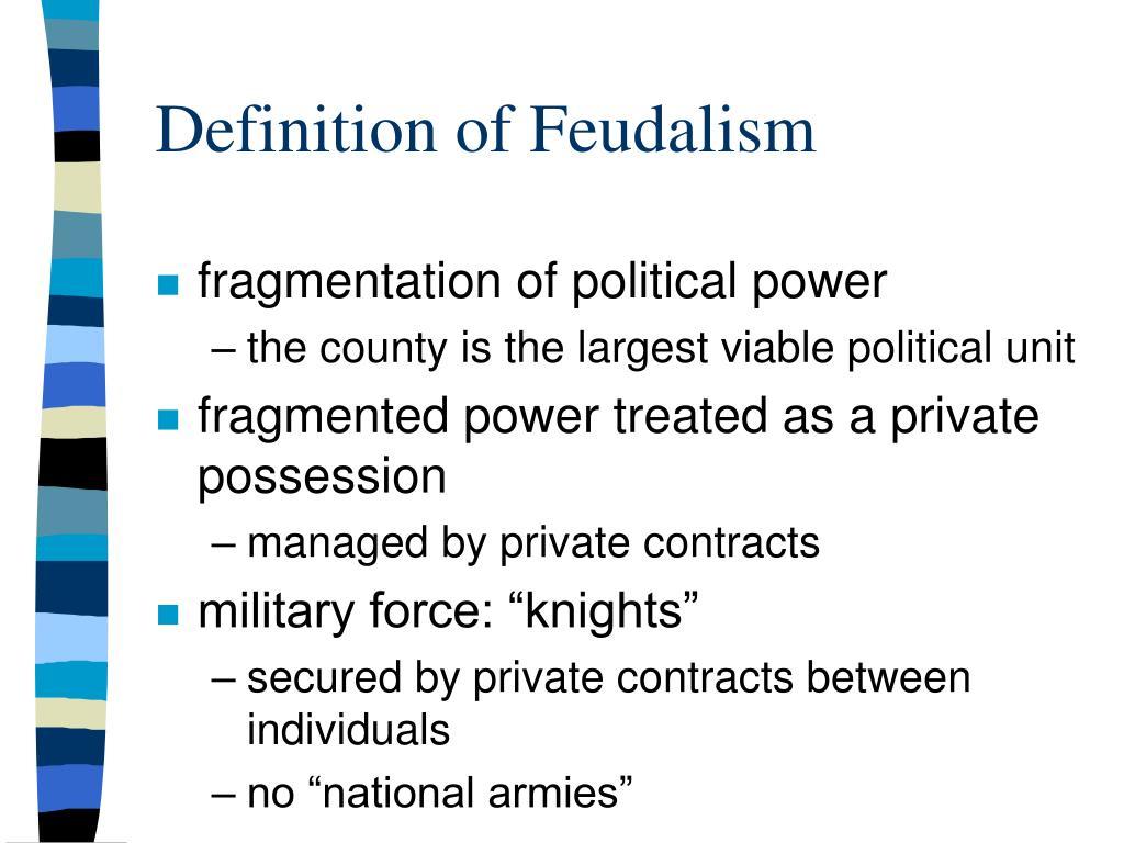 Definition of Feudalism