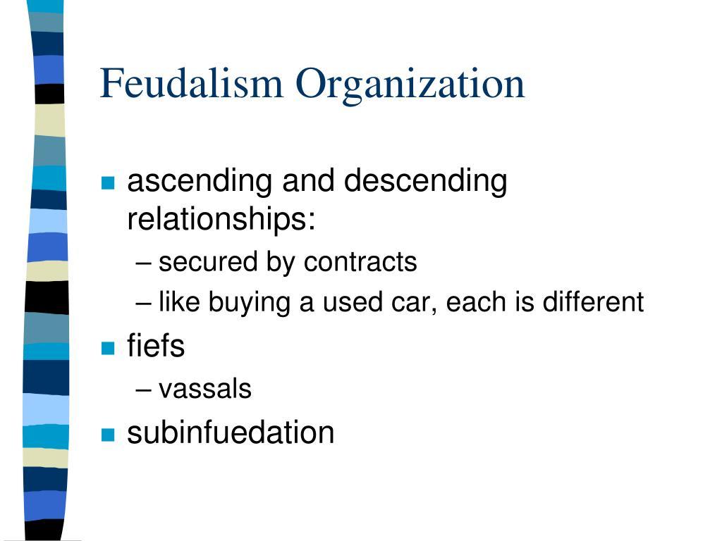 Feudalism Organization
