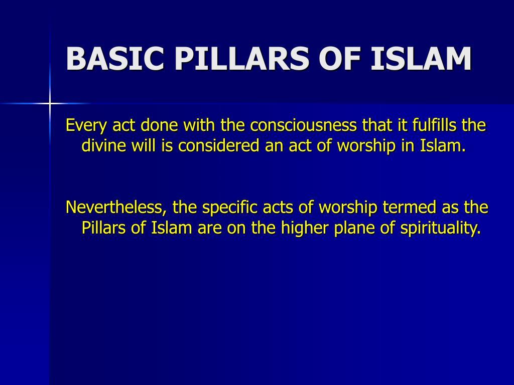 BASIC PILLARS OF ISLAM