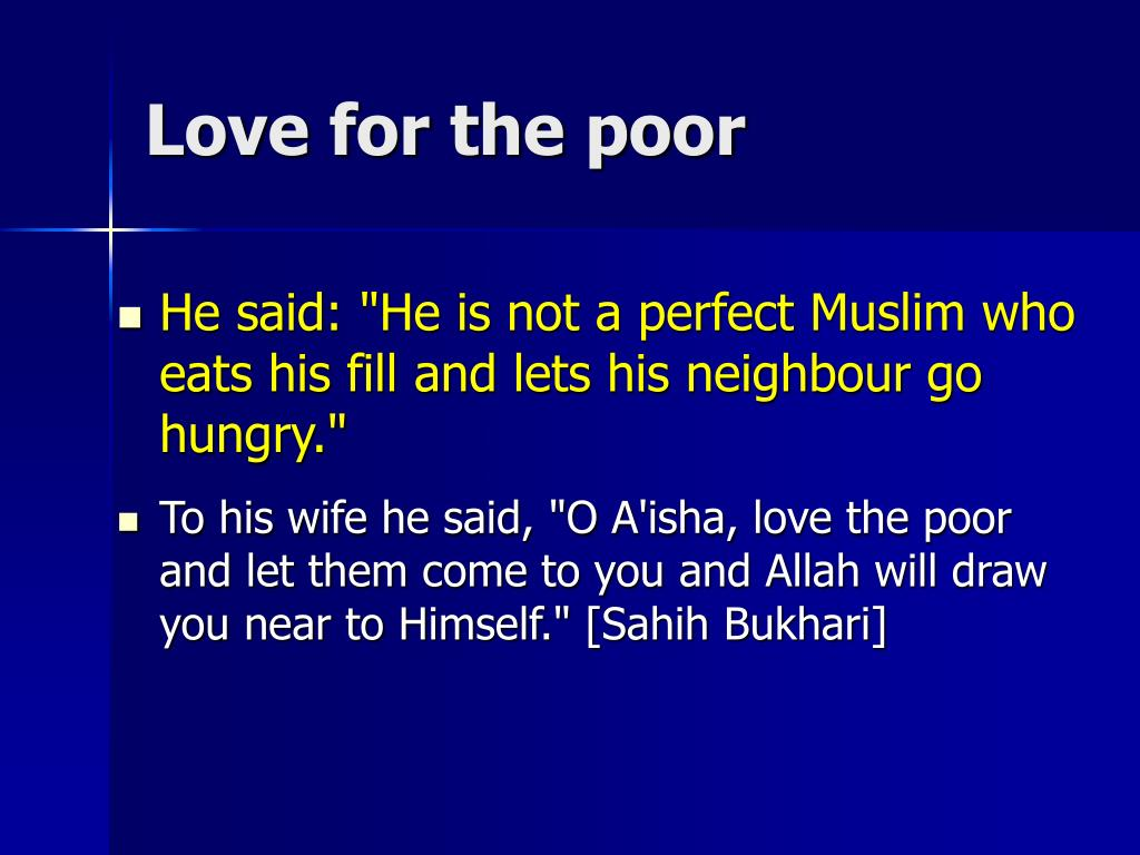 Love for the poor