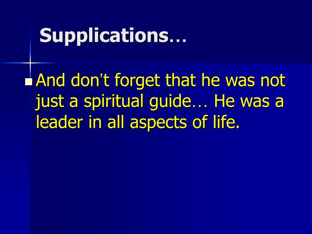 Supplications