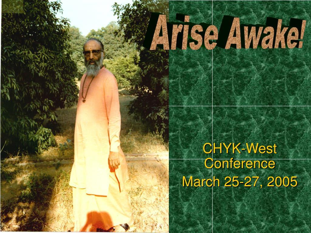 Arise Awake!